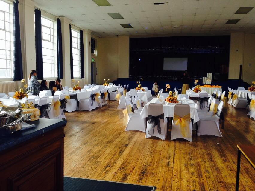 Main Hall Dressed for a Party