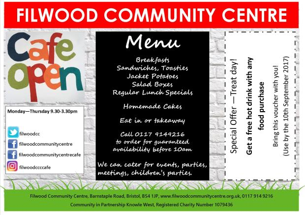 filwood community centre advert for the knowledge 170407